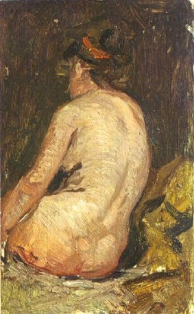 1895 Femme nue vue de dos