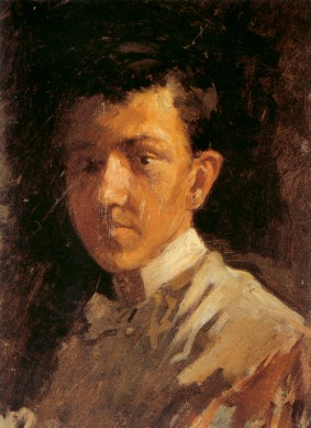 [Clio Team] 1896 Picasso Autoportrait aux cheveux courts, Self-portrait with the short hair Huile sur Toile 46,5x31,5 cm