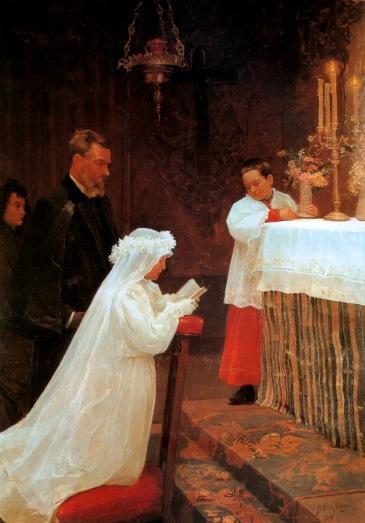 [Clio Team] 1896 Picasso La Première communion, The First communion Huile sur Toile 166x118 cm