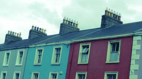 Los colores hasta en las chimeneas...