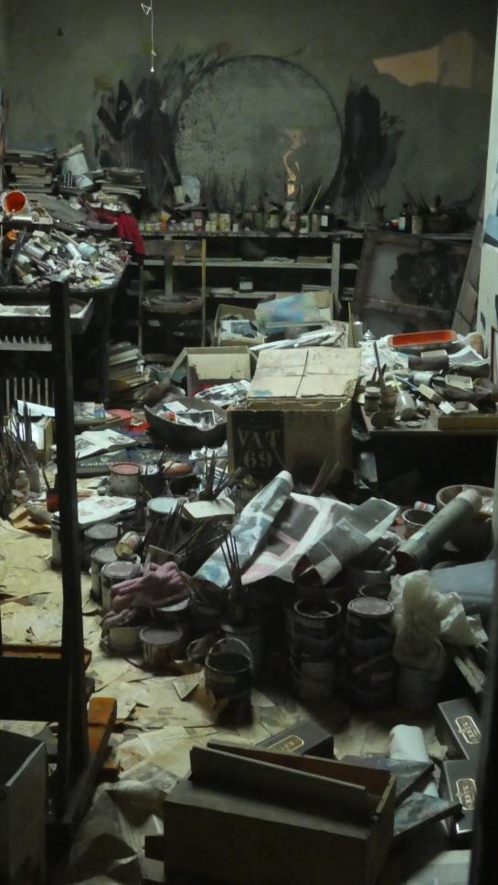 El estudio de Bacon en la Hugh Lane Gallery.. el desorden como marca personal