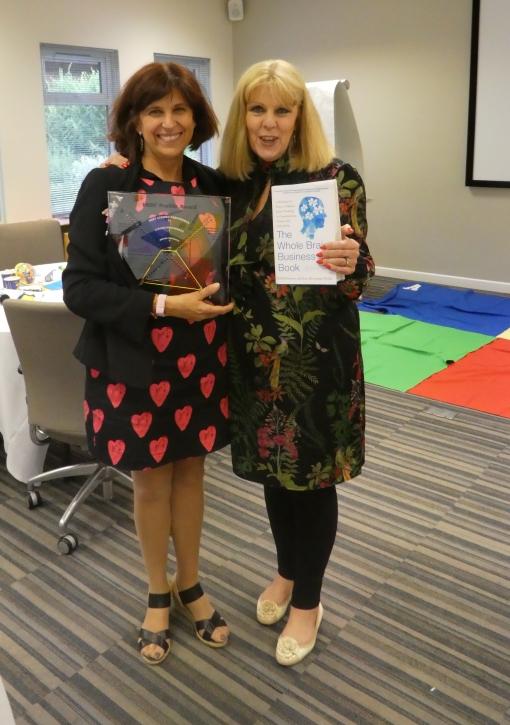 Con Susan, excelente colega facilitadora y una experta en HBDI